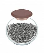 A Jar of Black Sesame on White Background