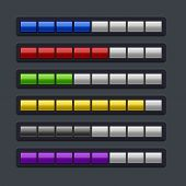 Color Loading Progress Bar Set.