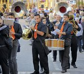 Modugno Italy - 23 September 2013:Procession of the patron saint
