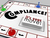 Compliance Board Game Follow Rules Guidelines Laws