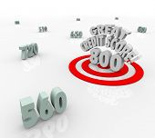 Great Credit Score Words Target High Numbers Ratings