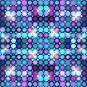Abstract blue disco lights vector background