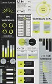 Green grey infographics