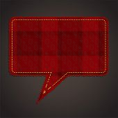 picture of tartan plaid  - plaid pattern background and speech bubble - JPG