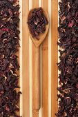 Wooden Spoon With  Roselle , Hibiscus
