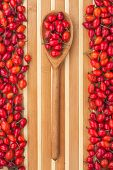 Wooden Spoon With Rosehip