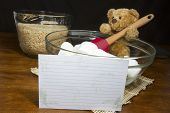 Recipe Card with Baking Bear
