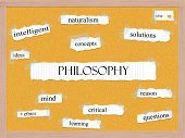 Philosophy Corkboard Word Concept