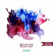 Beautiful Vector Watercolor Background For Textures And Backgrounds.