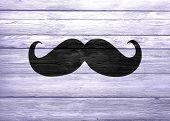 Black Mustache On Wood