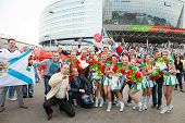 Minsk, Belarus, 09-may-2014: Minsk-arena Complex, Ice Hockey World Championship