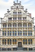 The historic building along Graslei. Ghent