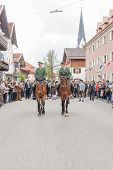 Miesbach / Germany / Bavaria - 05.May: mounted Police