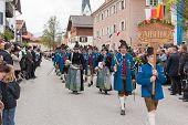 Miesbach / Germany / Bavaria - 05.May: protect mountain Company Bad Aibling