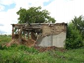 Ruinous Wall Of House