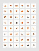 Orange Icons For Eshop, Suitable For Flat Design