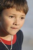 Boy Looking Sad Close-up