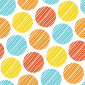 picture of scandinavian  - abstract seamless scandinavian colorful lined rounds wall background pattern design - JPG