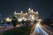 Galaxy Casino At Night Time In Macao