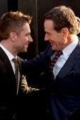 LOS ANGELES - MAY 8:  Aaron Taylor-Johnson, Bryan Cranston at the