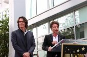 LOS ANGELES - MAY 9:  Rick Springfield, Richard Marx at the Rick Springfield Hollywood Walk of Fame Star Ceremony at Hollywood Blvd on May 9, 2014 in Los Angeles, CA