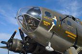 La segunda guerra mundial B17 bombardero Memphis Belle