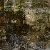 art abstract monochrome acrylic and pencil background in black, brown, beige, sepia and grey colors