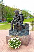 Monument to resting Rescuer In Moscow