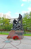 Monument Rescuers And Firefighters In Moscow