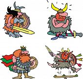 Comic Viking Warriors