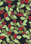 Seamless Leaves Background - Christmas Colors