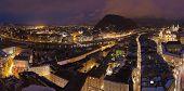 Salzburg Austria at winter - architecture background