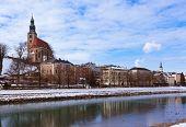 Architecture in Salzburg Austria - travel background