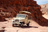 Extreme Safari Vehicle In Wadi Rum Desert, Jordan