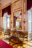 Interior of palace in Salzburg Austria - retro architecture background