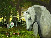 picture of bucking bronco  - The fabled golden creature of the woodlands and the forest - JPG