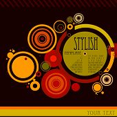 abstract stylish background with circles