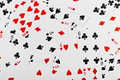 Playing cards - abstract gambling background