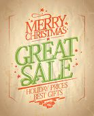 Christmas great sale design in retro style. Eps10.