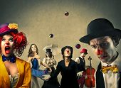 picture of circus clown  - The circus  - JPG