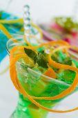Fresh triple citrus mojito cocktail
