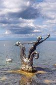 Sculpture By Edouard-marcel Sandoz At Vevey, Lake Geneva, Switzerland