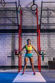Barbell weight lifting woman weightlifting workout exercise gym