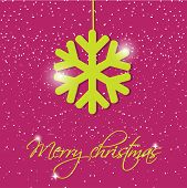 Holiday greeting card with christmas snowflake and place for our text