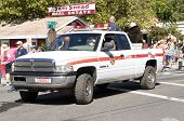 West Point, CA - October 4, 2014: Lumberjack Day Parade in this small American township, illustrating a slice of Americana