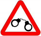 attention sign handcuffs