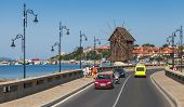 Wooden Windmill In Ancient Town Nesebar, Bulgaria
