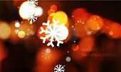 eps10 vector unfocused night lights and snowflakes Christmas concept background