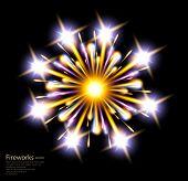 fireworks star flower vector