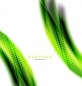 Abstract background, green wave business template, web design